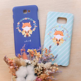Wreath small fox mobile phone shell / ChiaBB TPU matte soft shell multicolor