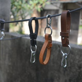 Simple key ring / hand-made / leather / couple / texture / Wenqing