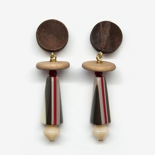 Modern Stripe Earrings - Beige