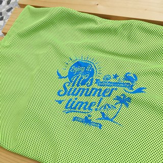 Green summer beach cool cloth cover (requires use with cool pad)