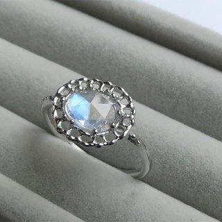 Ring of Moonlight Blue Moonstone