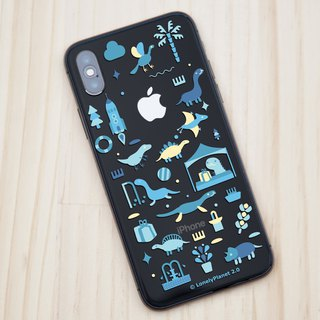 Lonely Planet 2.0 Mobile Shell - Dinosaurs Goes to Market - Blue - Transparent (Custom)