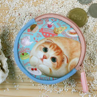 [Henry House Family] Diving Cloth Round Coin Purse - Henna Xiaona (FunTime)