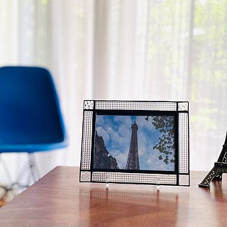 Stained Glass Photo Frame Chic 1 Clear