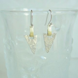 Tin earrings · long triangle