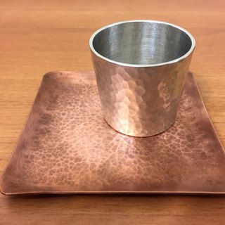 Red copper hammer square plate (without tin cup)