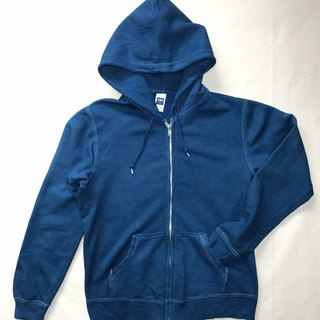 【Order Production】 Indigo dyed Aizen - deep blue mind hoodie
