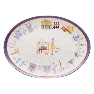 Aimez le style oval tray - London illustrator <A02044>
