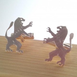 "King of monsters ""Lion"" Silver Cuffs"