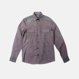 Lucas Burgundy Cotton Shirt