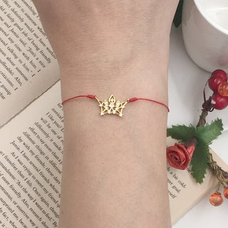 *Le Bonheur happy Line line*Golden Crown Princess diamond / red diamond bracelet Reline single fine line matchmaker marriage
