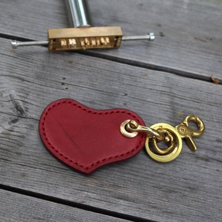 """CANCER popular laboratory"" love key ring - deep red"
