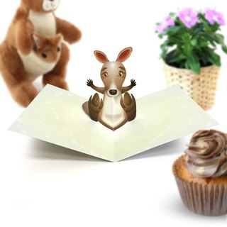 Kangaroo Pop Up Card | Kangaroo | Kangaroo Birthday Card | Kangaroo Baby Shower