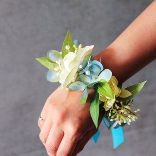 Wrist flower [flower] simulation hydrangea and butterfly
