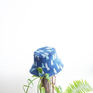 [Spot] stiff-sided version of the summer hat | A blue bear