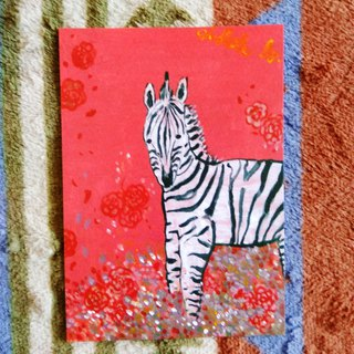 [Animal] Series - Zebra_Postcard_Card