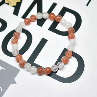Natural stone bracelet _ soft white 妳