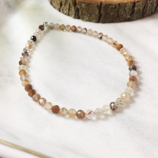 MH sterling silver natural stone elegant series _ copper hair crystal