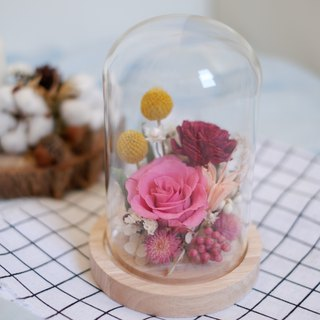 Not to be renewed | No withered flowers dry glass cover wedding small gifts gift home decoration office small objects white Valentine's Day spot