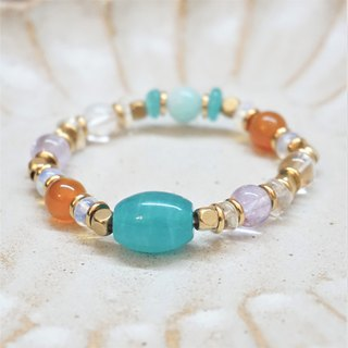 << Static water ice-clear - natural stone bracelet>> Six kinds of natural stone lucky energy ore Tianhe stone