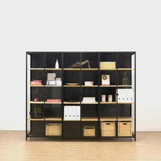 Creesor- Shido 40 industrial bookcase display cabinet
