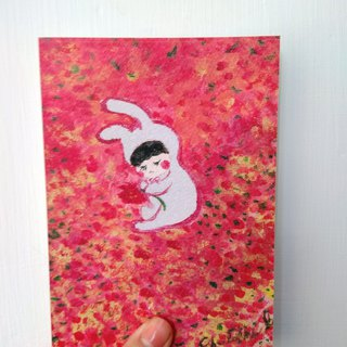 In the sea of ​​flowers_postcard_card