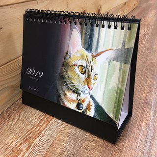 Donna hand-painted cat puppy 2019 calendar calendar