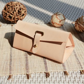 Triangle Glasses Case, Multi-pockets leather case