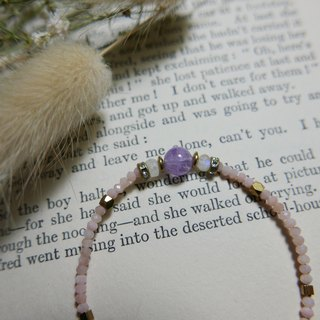 Limited. Lavender crystal very fine bracelet