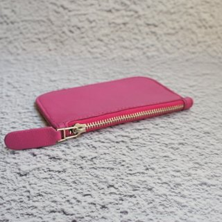 Pink lambskin very thin wallet