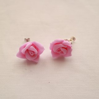 Baum Rose earrings / earrings pastel pink