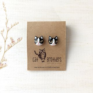 Tuxedo Cat Earrings, Cat Stud Earrings, Black cat earrings, cat lover gifts