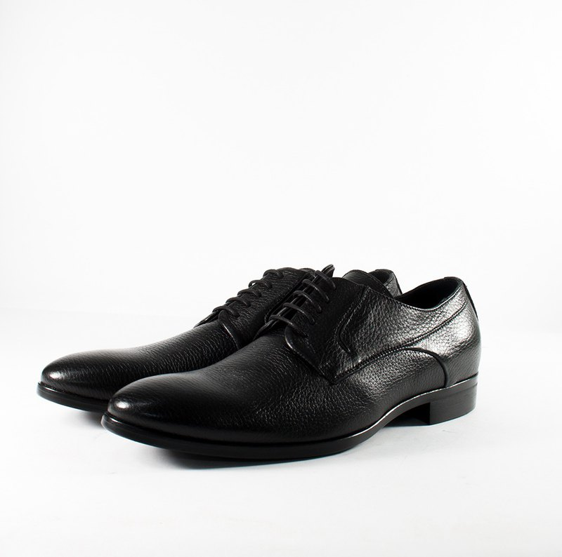 ITA BOTTEGA [Made in Italy] deerskin calm black gentleman shoes