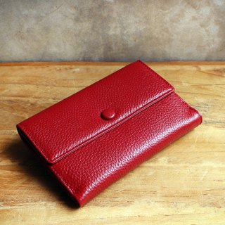 Leather Wallet - Melody - Red (Genuine Cow Leather) / Small Wallet