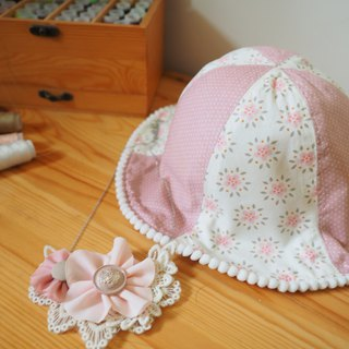 Handmade Baby kid hat and and necklace set