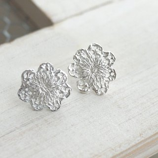 [Jin Xia Lin sterling silver earrings] seven lace ear ear