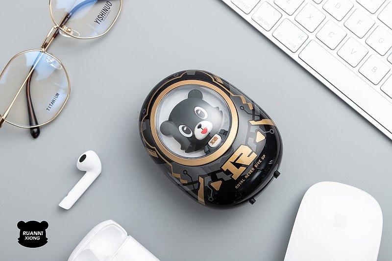 黃油貓×RNG電競聯名款軟泥熊太空艙充電寶可愛卡通快充移動電源