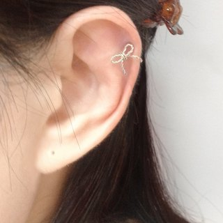 Twist bow ear clip / ear bone clip
