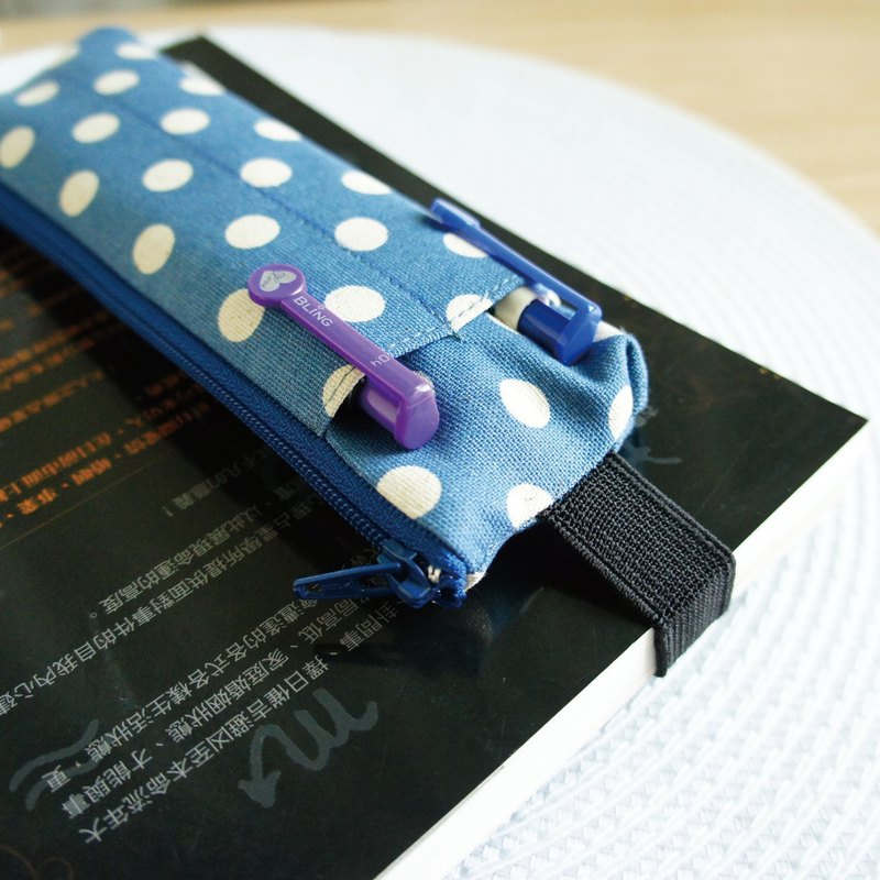 Lovely [OL point control tied book with pencil case, gray blue] A4 (can be tied horizontally), A5 (can be tied straight)
