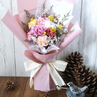 | Brilliant flowers | Not withering roses. Dry flowers. Graduation bouquet. Standing bouquet. Pink