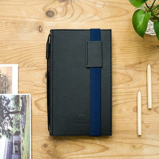 Ultra Slim Refillable Notebook – Black Cover