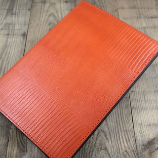 APEE leather hand ~ side lift leather case ~ lizard skin pattern honey citrus ~ (ipad 5)