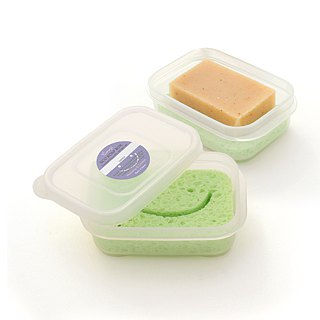 [Travel companion] airtight waterproof sponge soap box (lavender color)