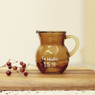 [Good day] Miscellaneous fetish brown glass jug of milk / milk