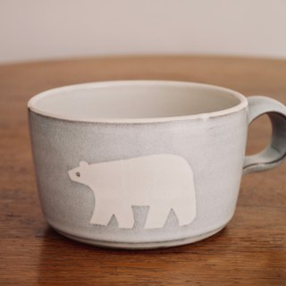 Pottery Polar Bear Soup Cup (Mug)