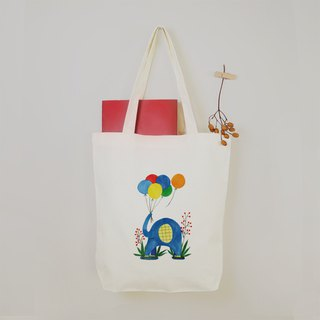 [Good days] colorful balloon elephant canvas tote bag