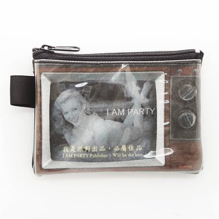 | I AM PARTY | handmade oil canvas leather wallet - sexy Monroe [buy to send brand badge or leisure card stickers x1]