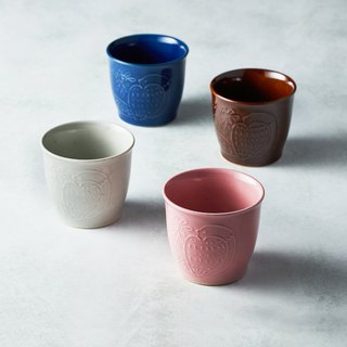 Shimao Bozo Sasaki - Mori's Song Pottery Cup - (4 pieces)