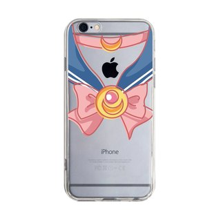 Transparent Sailor Uniform Pink iPhone X 8 7 6s Plus 5s Samsung S8 S9 Mobile Shell
