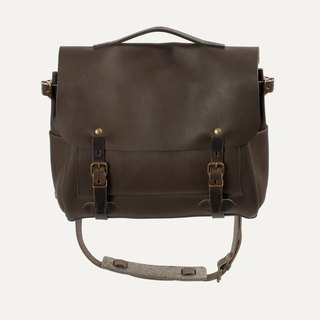 [Bleu de Chauffe] Eclair M Leather Messenger Pack _Expresso / Coffee Brown